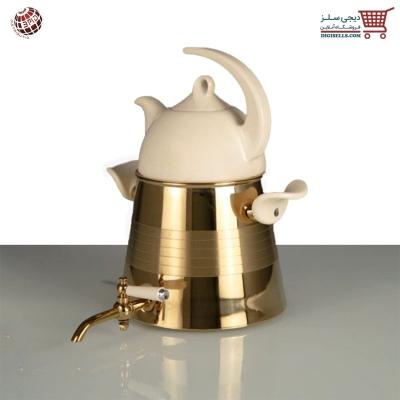 کتری-و-قوری-کروپ-ست-مدل-ویونا-طلایی-pvd-کد-608 دیجی سلز